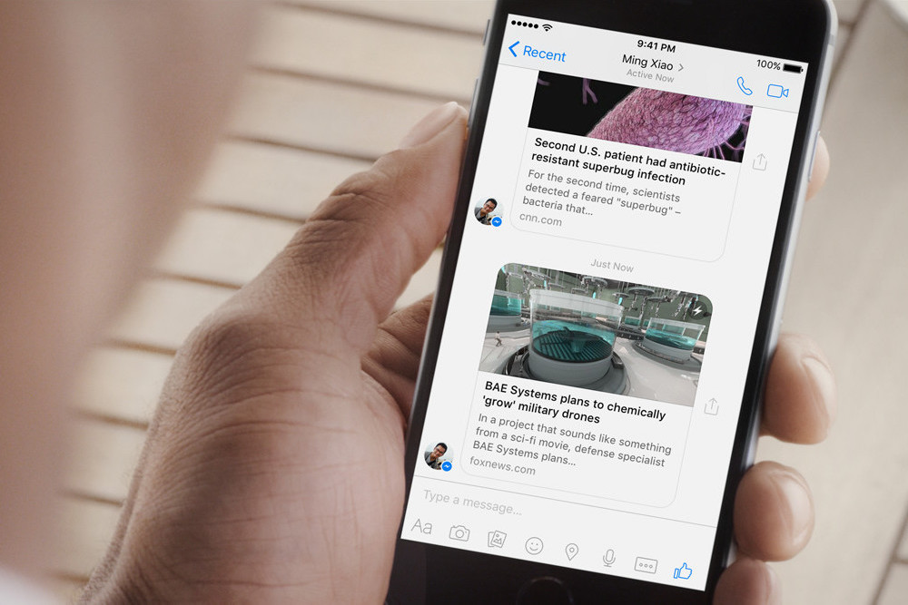 Instant Articles do Facebook chega ao Messenger