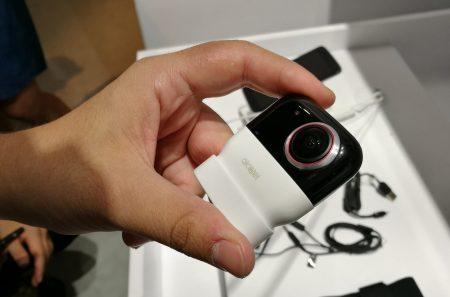 Segunda câmara 360 no stand da Alcatel