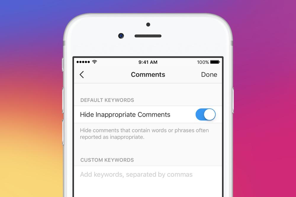 Instagram libera ferramenta para filtrar comentários inapropriados