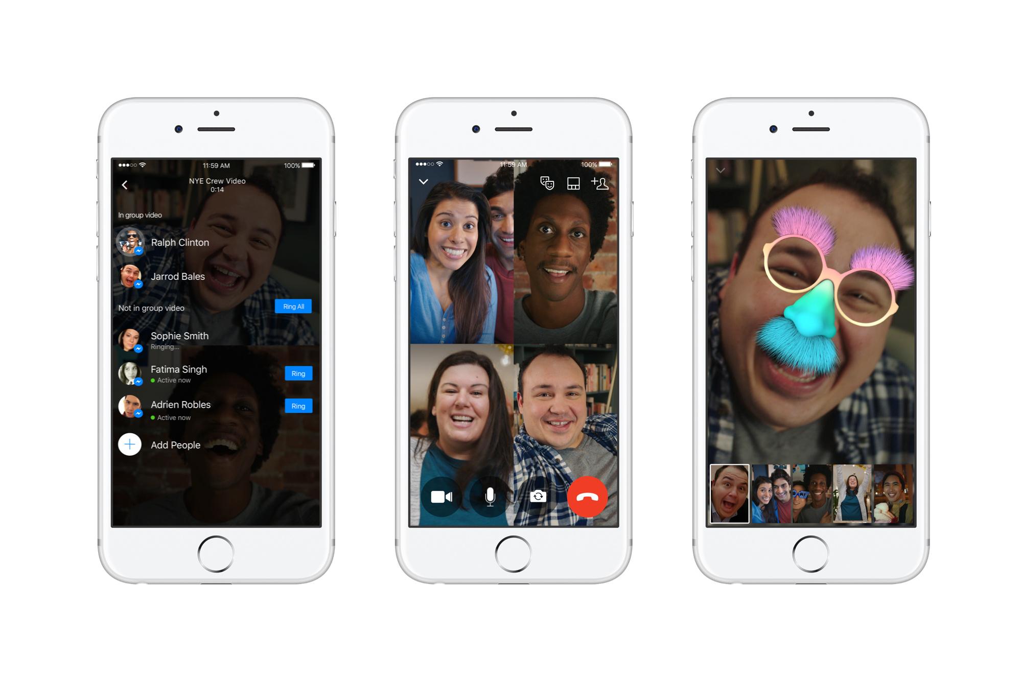 Facebook Messenger ganha chamadas de vídeo em grupo