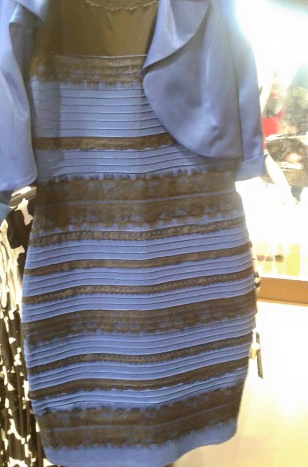 O vestido azul reflexao