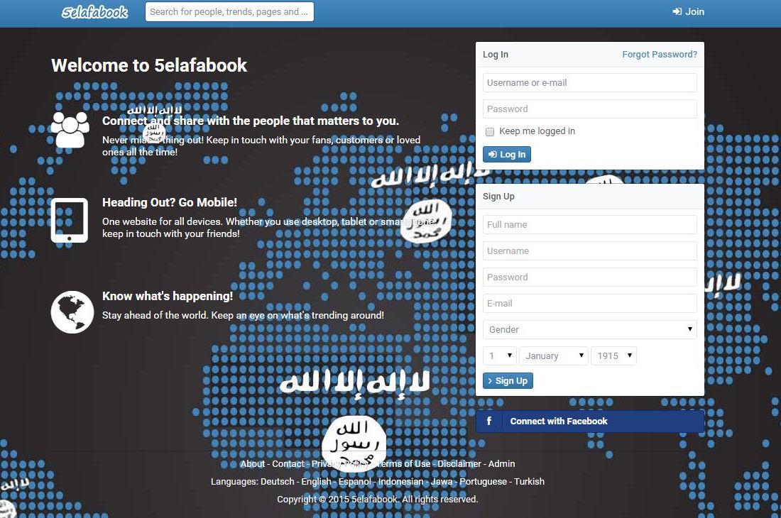 Resultado de imagem para rede social do estado islamico