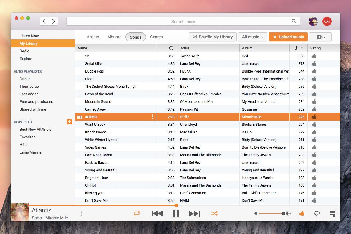 Se tens Mac e usas o Google Play Music, esta app é para ti