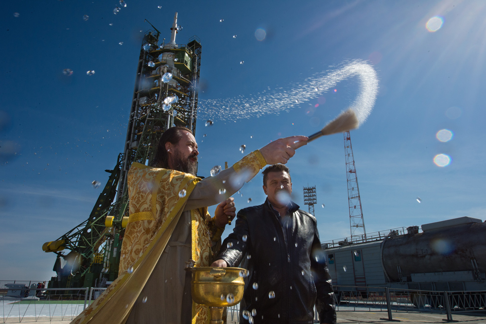 Expedition 41 Soyuz Blessing