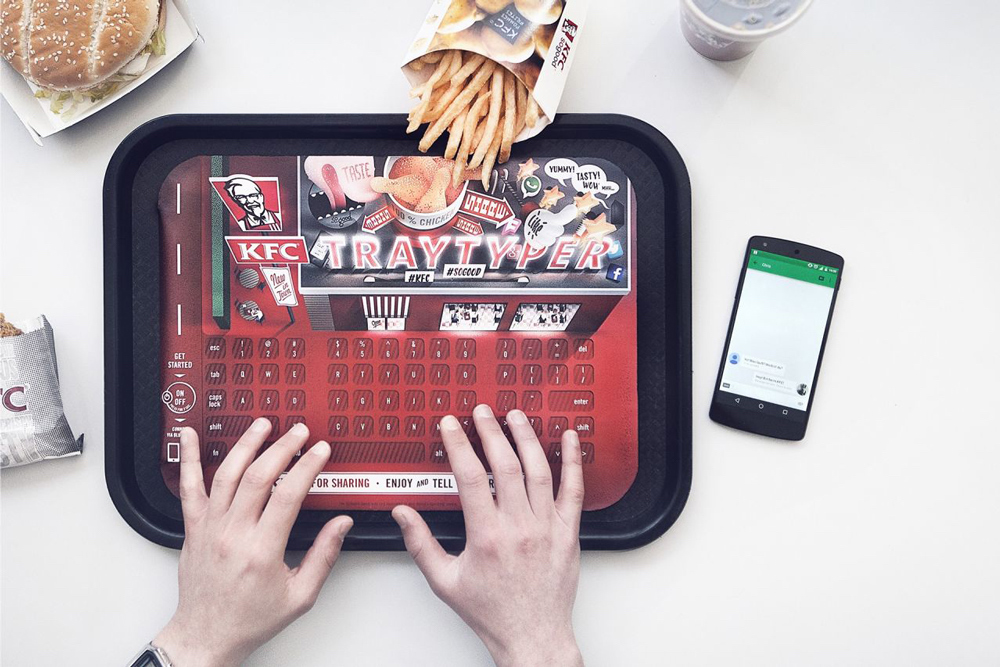 teclado da KFC