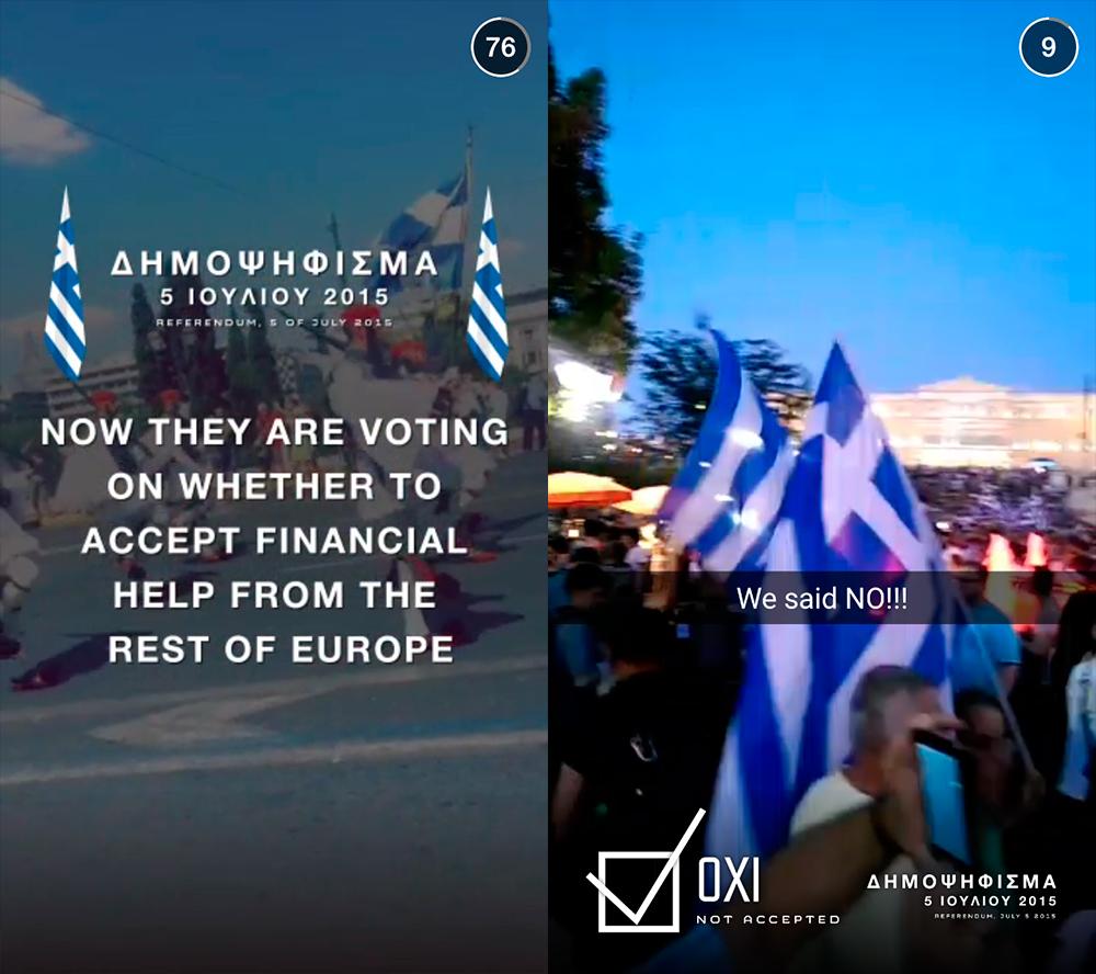 snapchat Grécia