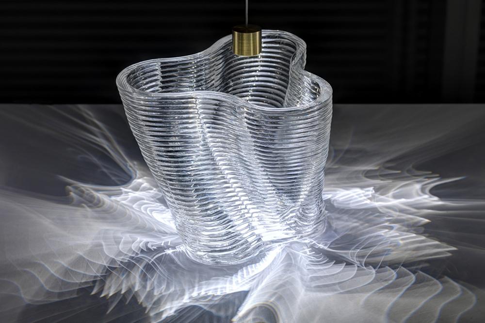 Impressão em 3D vidro derretido