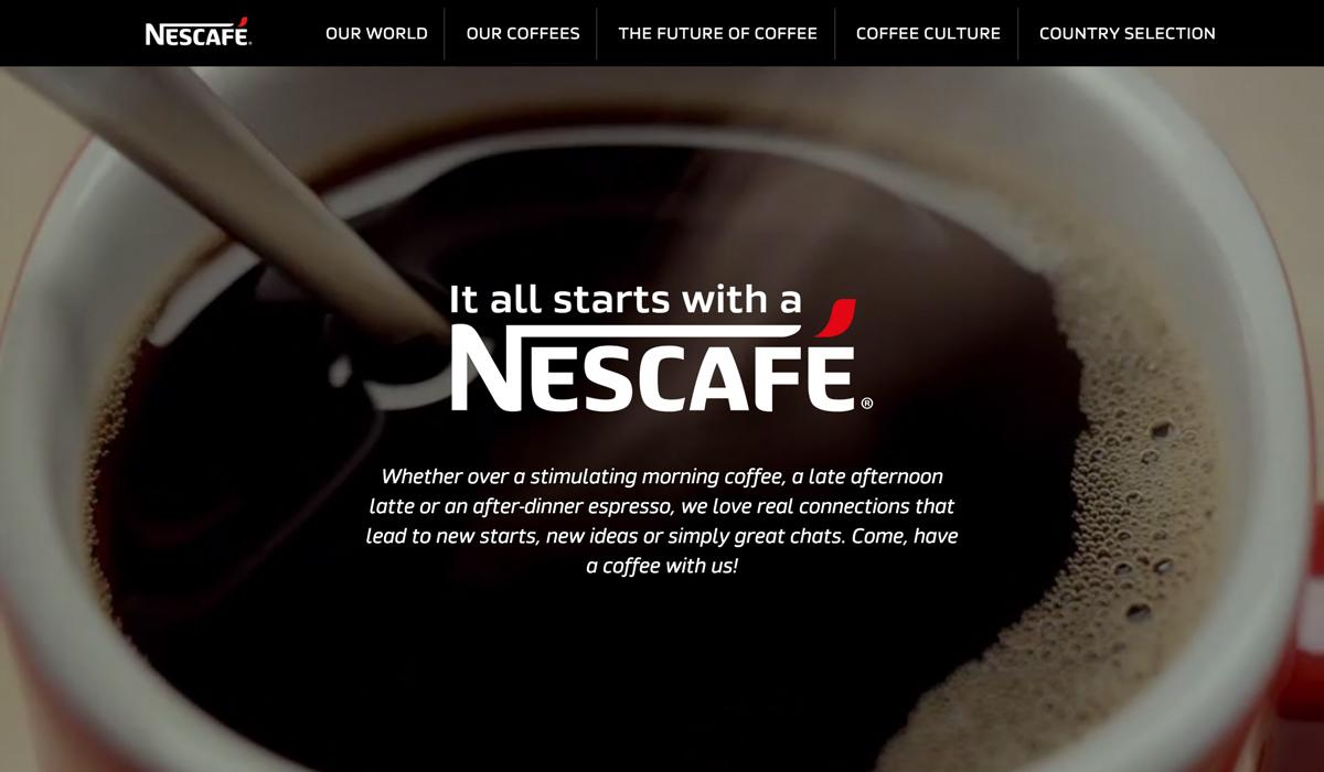 Nescafé website Tumblr