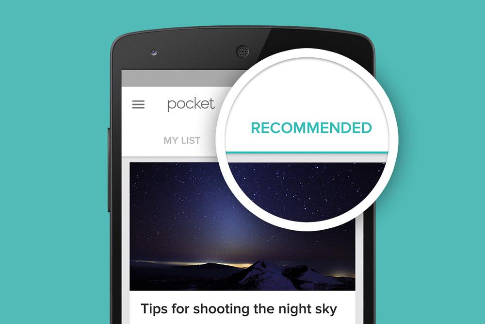 pocket recomendações