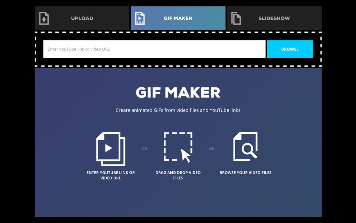 criar um GIF