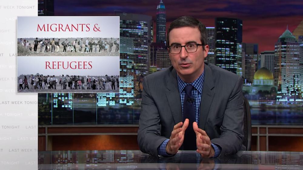 John Oliver crise de refugiados
