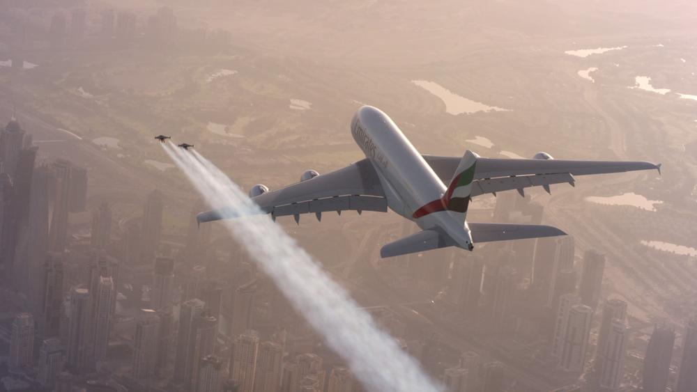 avião com guarda-costas