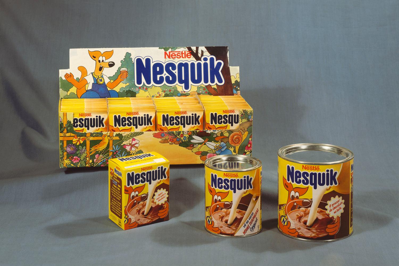 Fotografia de produto do leite achocolatado Nesquik.
