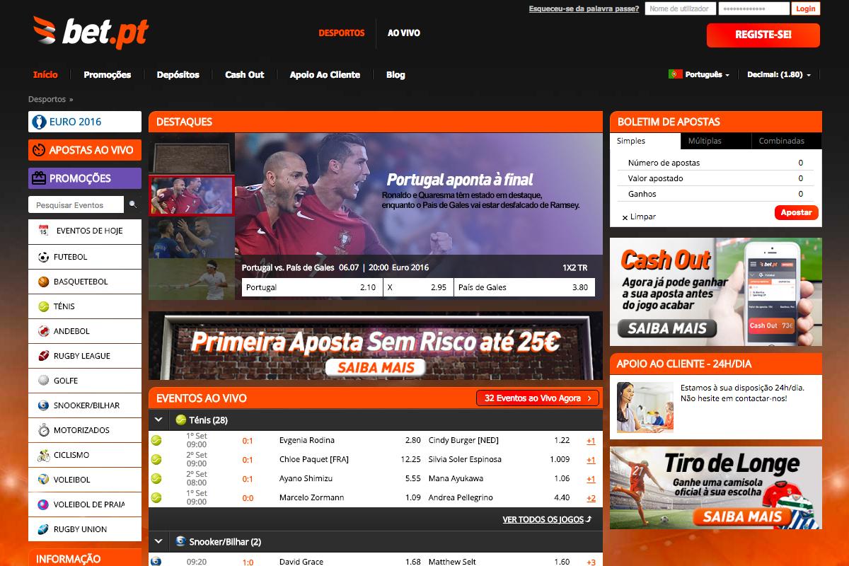 Apostas desportivas online legalizadas