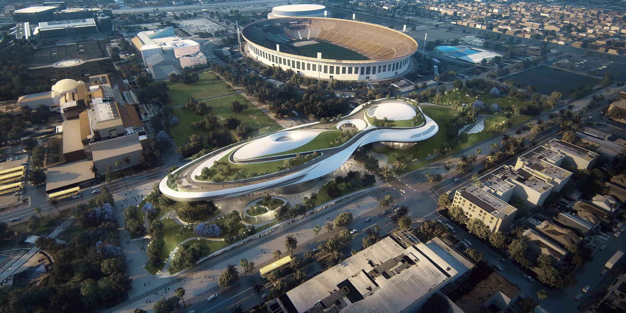 A arquitectura do museu é inspirada, claro, numa nave espacial