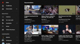 youtube modo escuro