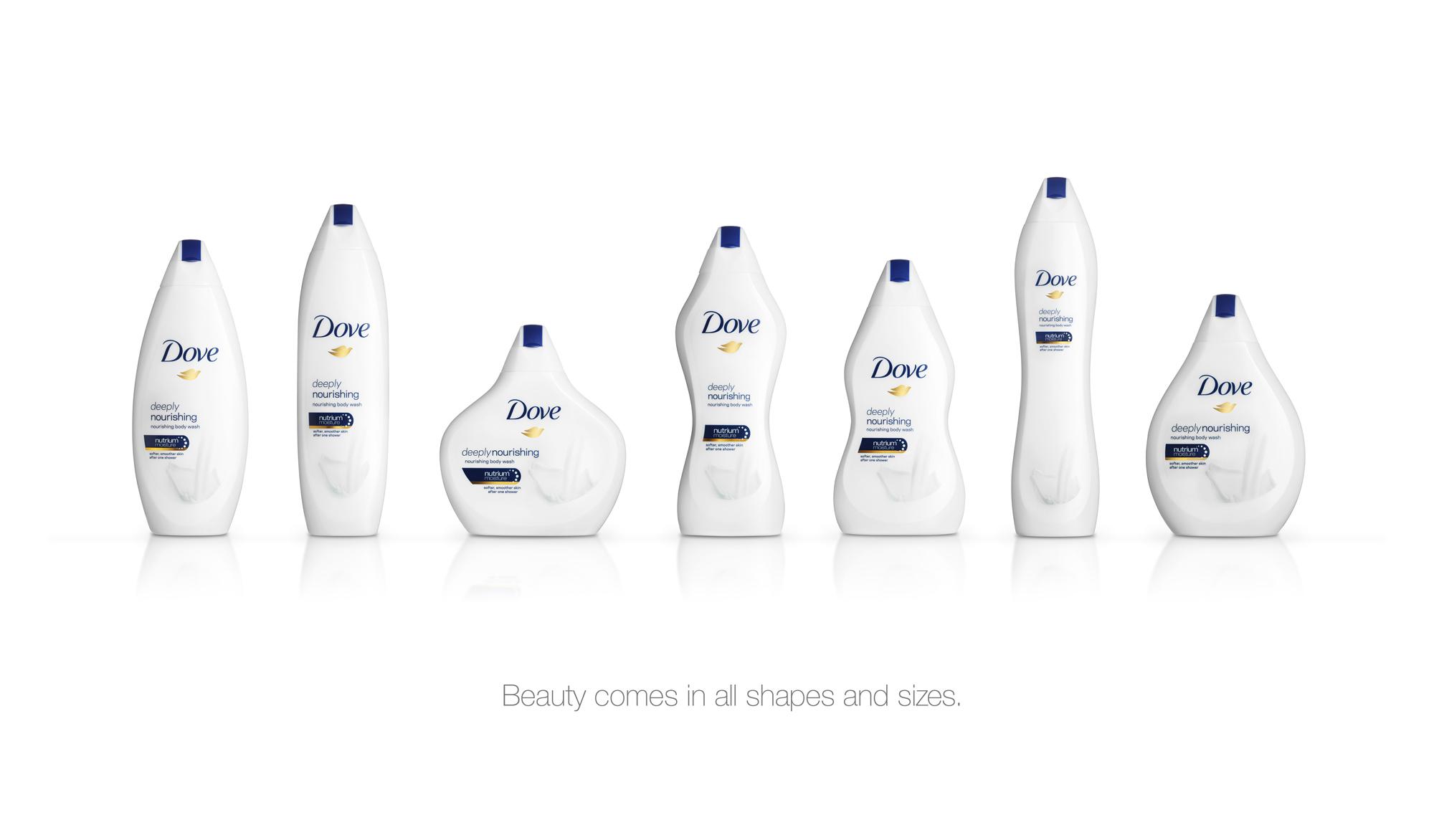 dove beleza real embalagens