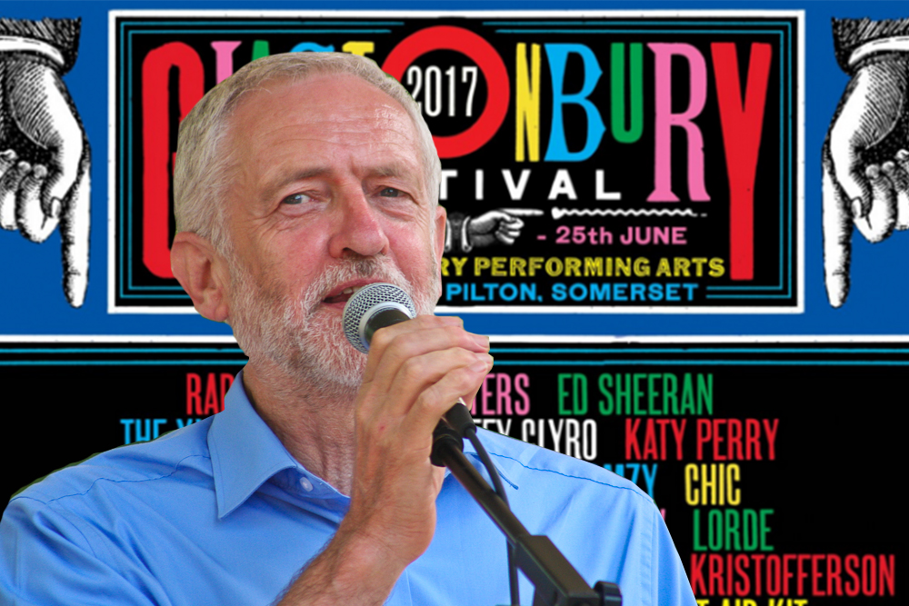 Jeremy Corbyn Glastonbury
