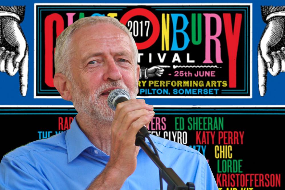 Jeremy Corbyn Glastonbury