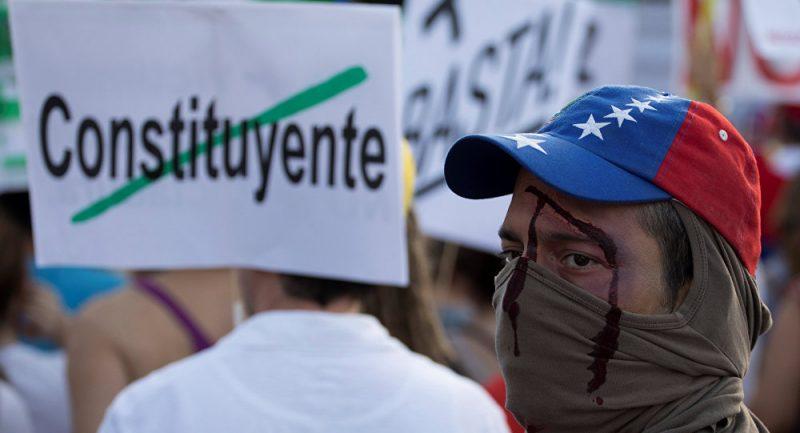 Os protestos são uma das garantias da oposição. Créditos: Sergio Perez/Reuters