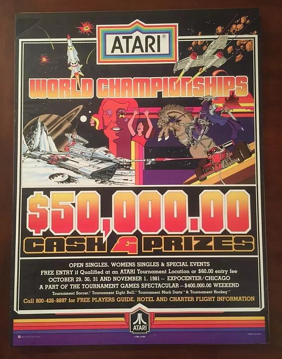 Cartaz de um torneio da Atari, em 1981.