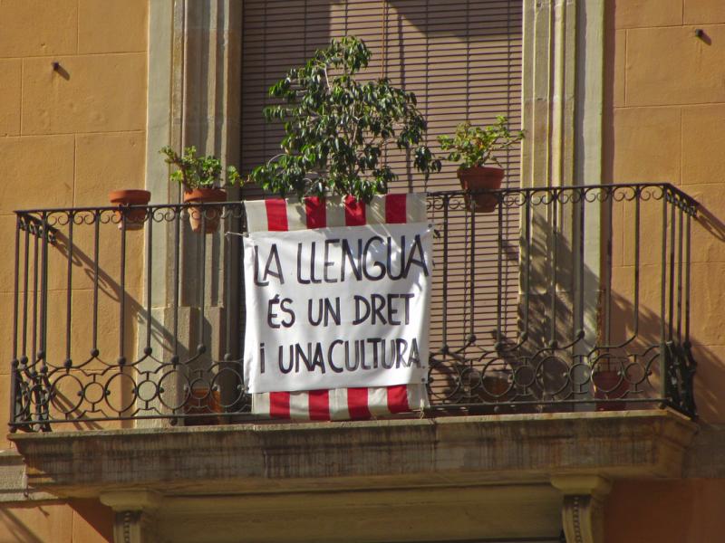 O catalão é visto como um dos símbolos da independência da região.