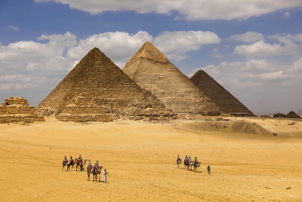 construção Pirâmides de Gizé