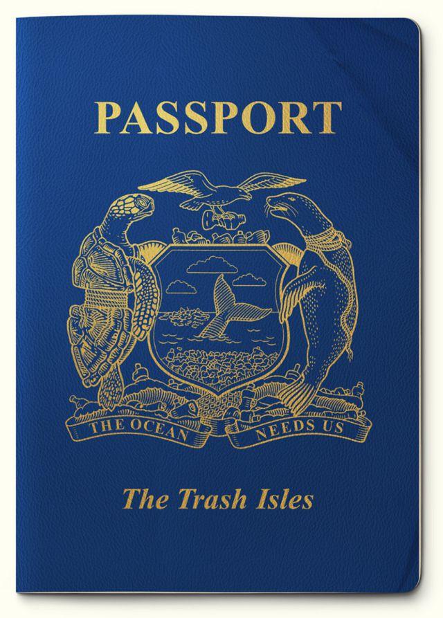 """Passaporte para a """"Ilha de Lixo"""". Autor: Mario Kerkstra."""