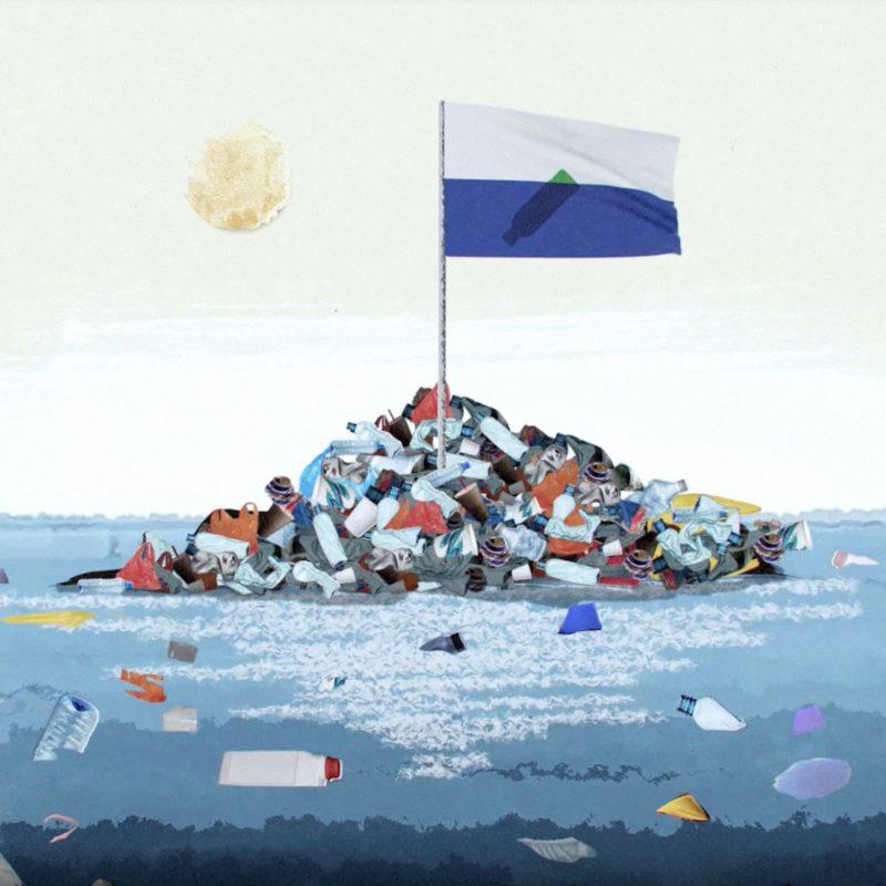 """A atual """"Ilha de Lixo"""" ostenta um tamanho semelhante a um dos maiores países da Europa: a França. Créditos: Dezeen"""