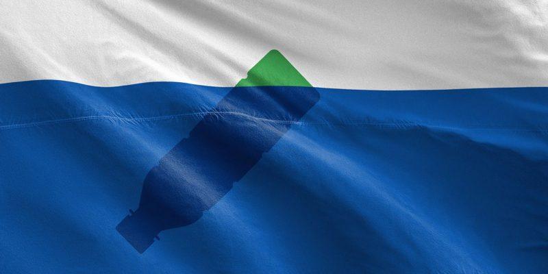"""Bandeira oficial das """"Trash Isles"""". Autor: Mario Kerstka"""