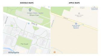 Comparação entre Google Maps e Apple Maps