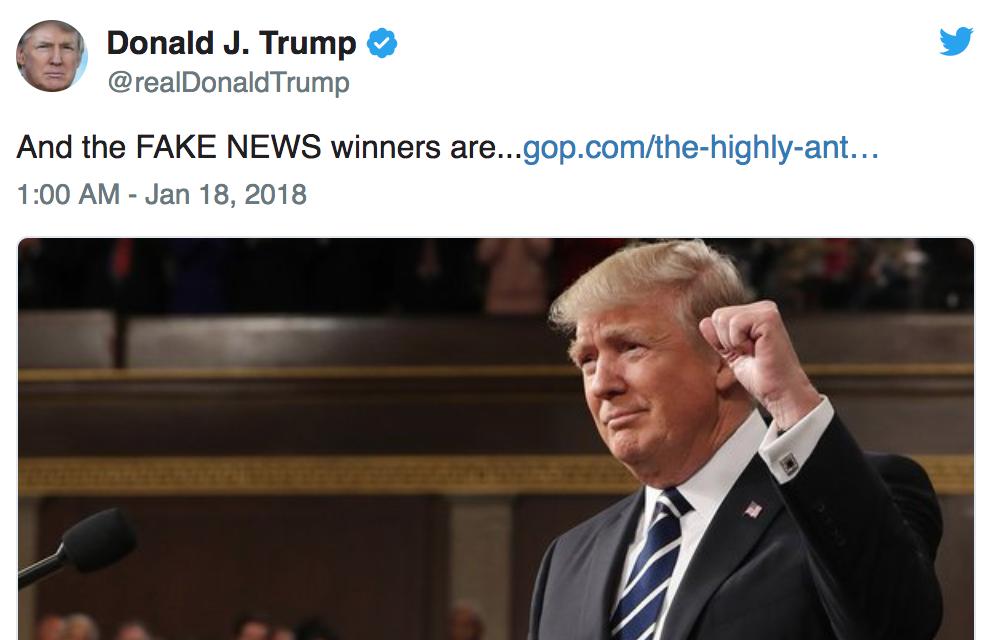 Donald Trump divulga vencedores dos