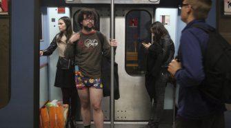 Metropolitano de Lisboa sem calças