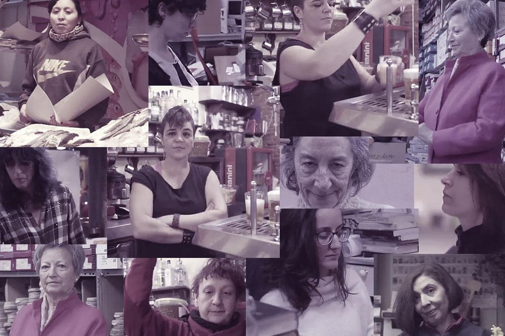 Imagens do vídeo de convocatória para a Greve do Dia Internacional da Mulher