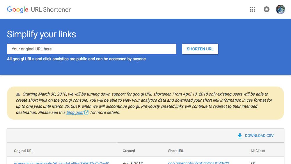 O Google está fechando seu serviço de encurtamento de URL, goo.gl