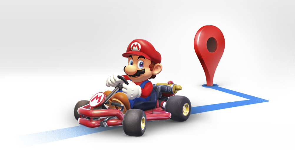 Google Maps Super Mario Kart