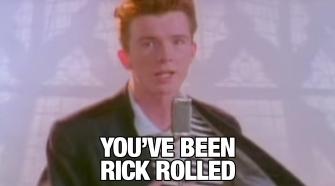 meme Rick Astley