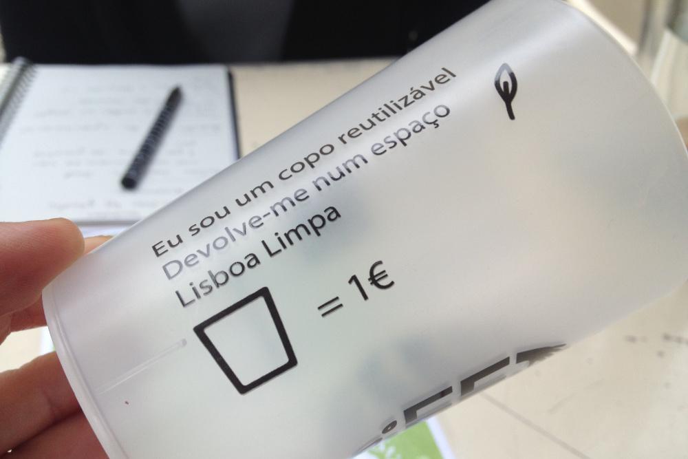 Lisboa copos reutilizáveis