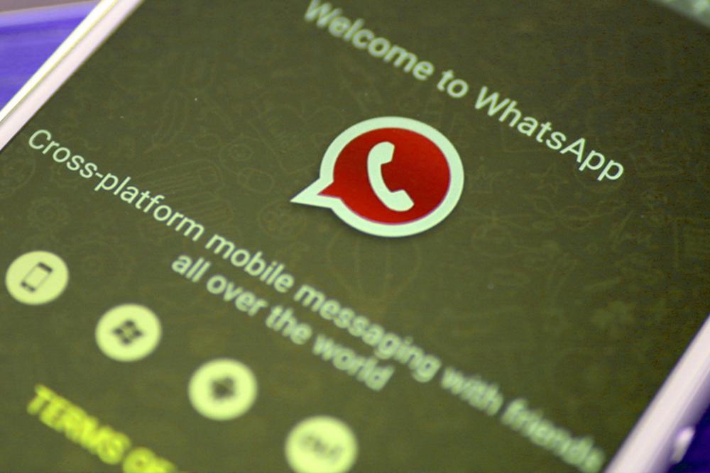 Whatsapp Vermelho