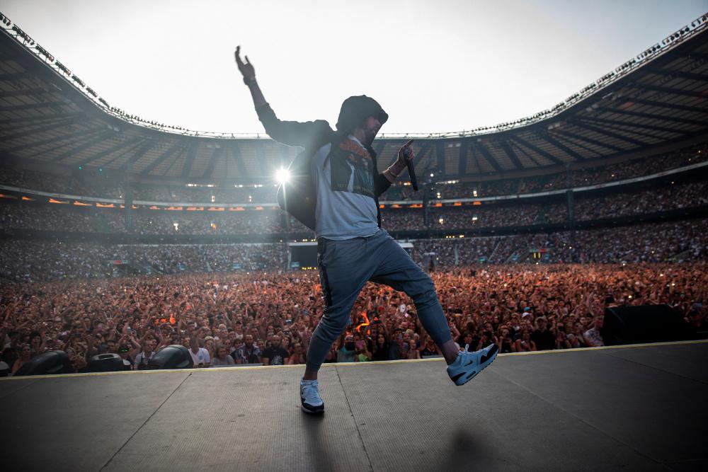 Eminem em Londres (foto de Jeremy Deputat via Twitter)
