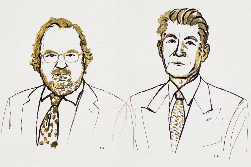 James Allison e Tasuku Honjo receberam o Nobel da Medicina este ano (ilustrações via Prémio Nobel)