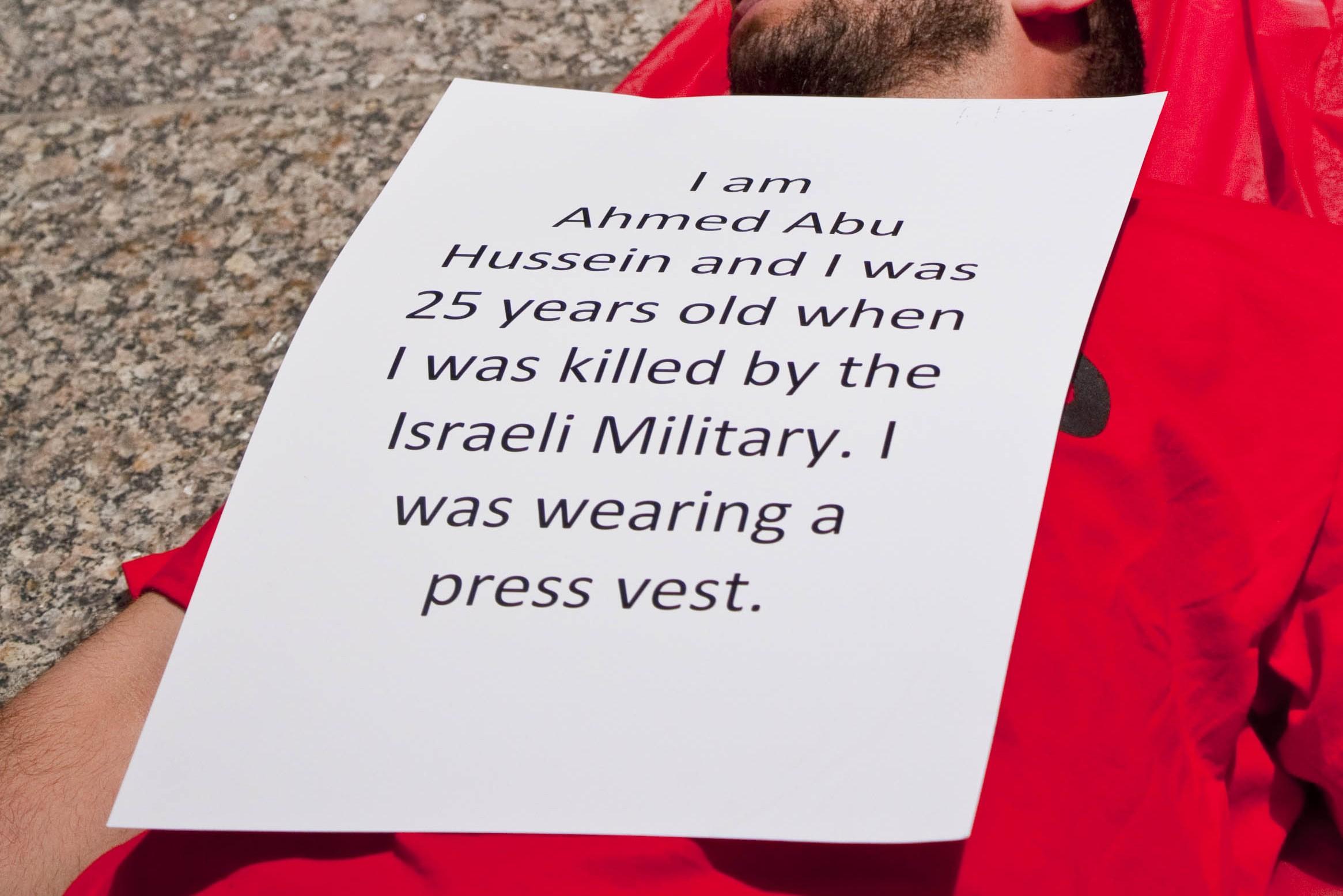 Die-In Protest Against Israeli Defense Forces Killing Unarmed Gazan Civilians /  Charles Edward Miller