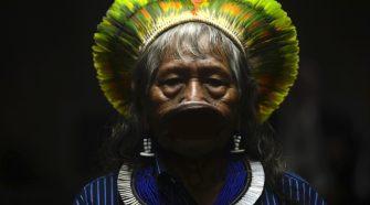 Chefe Raoni Metuktire , líder de comunidade indígena na Amazónia
