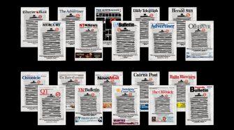 Capais dos principais jornais da Austrália