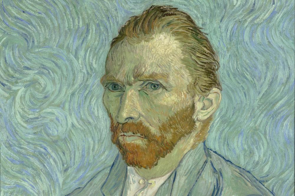 Vincent van Gogh em auto-retrato (imagem via Google Art Project)