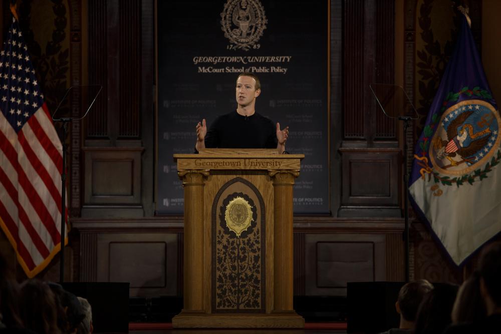 Mark Zuckerberg fez um discurso sobre liberdade de expressão (foto via Facebook/DR)