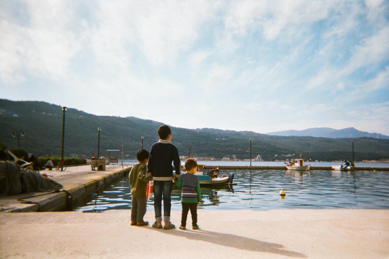 Uma das fotografias tirada por jovens refugiados em Samos