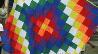 Whipala, uma das bandeiras da Bolívia