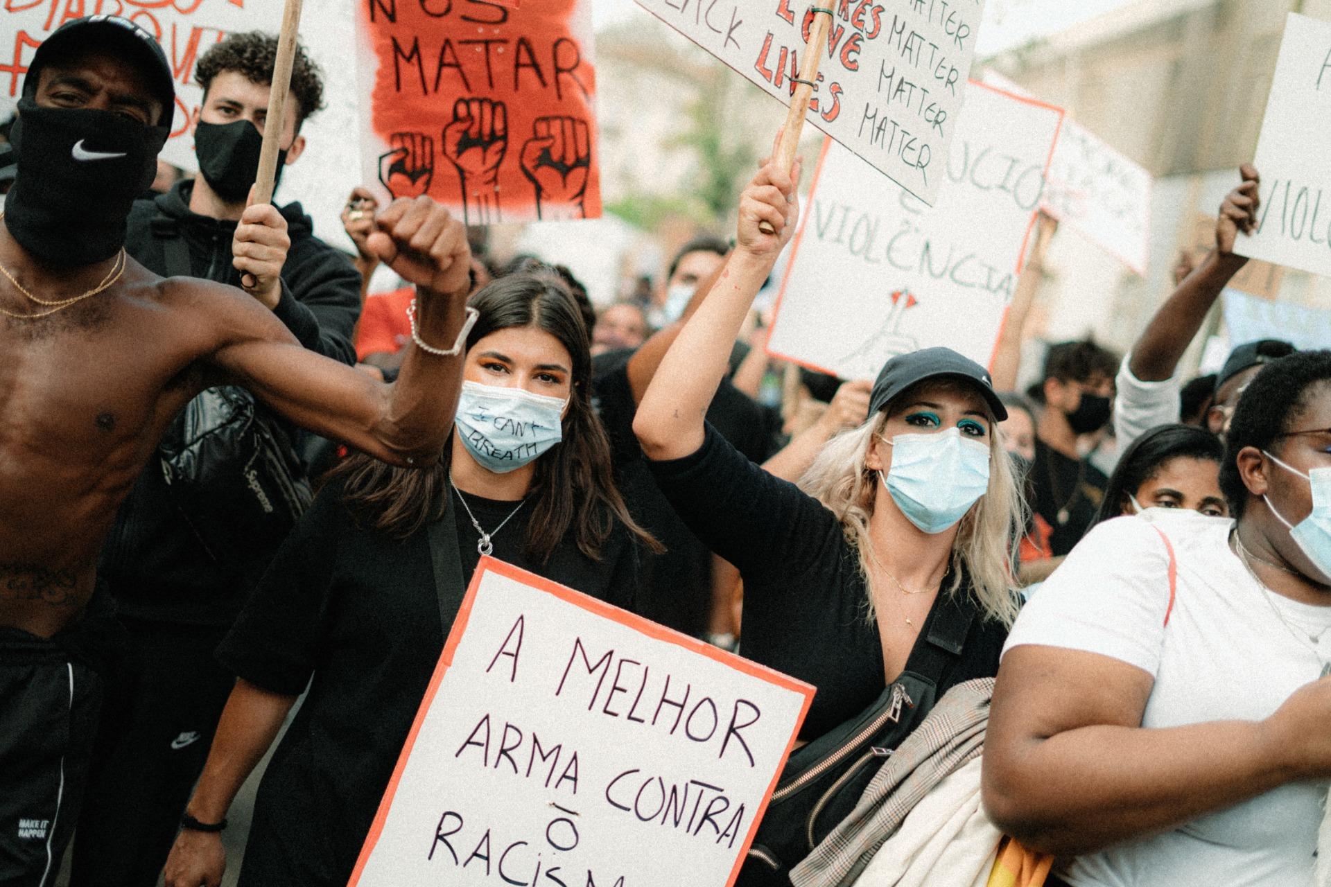 Manifestação Anti-Racista em Lisboa, 6 de junho. Foto de Manuel Casanova.
