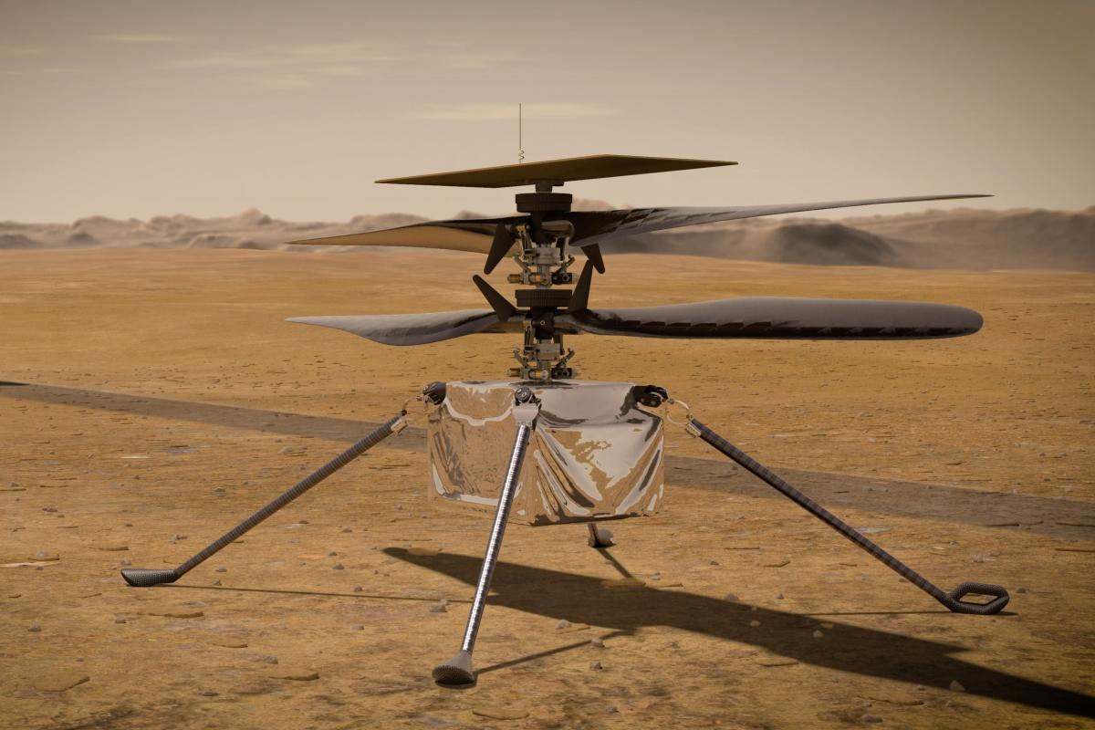 Ingenuity em Marte (Ilustração)